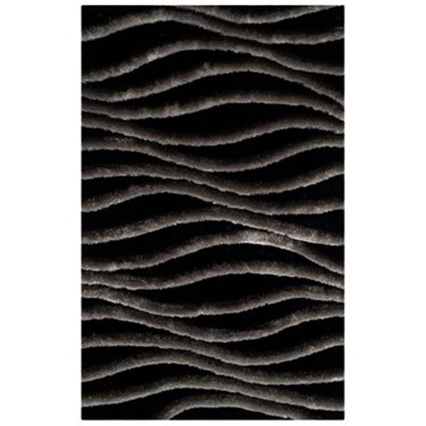 Safavieh SG551E Shag Area Rug, Black / Grey,SG551E-4