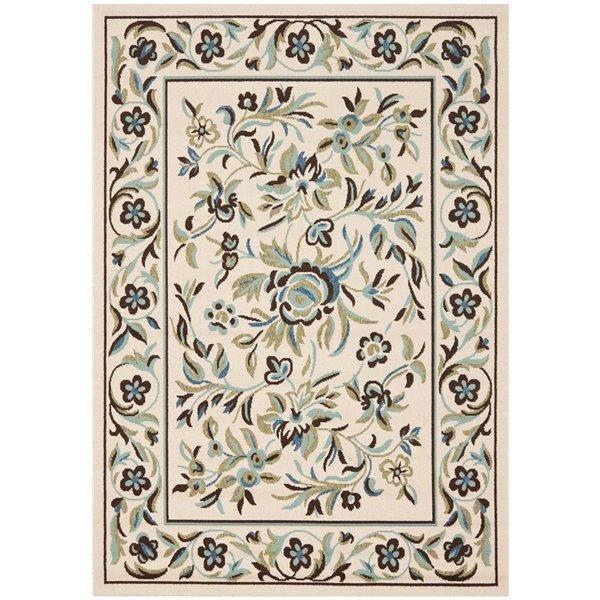 Safavieh VER011-0614 Veranda Area Rug, Cream / Green,VER011-