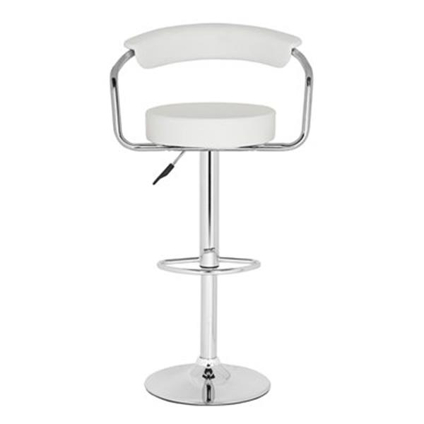 Safavieh Angus 25.20-in White PVC/ Stainless Steel Bar Stool