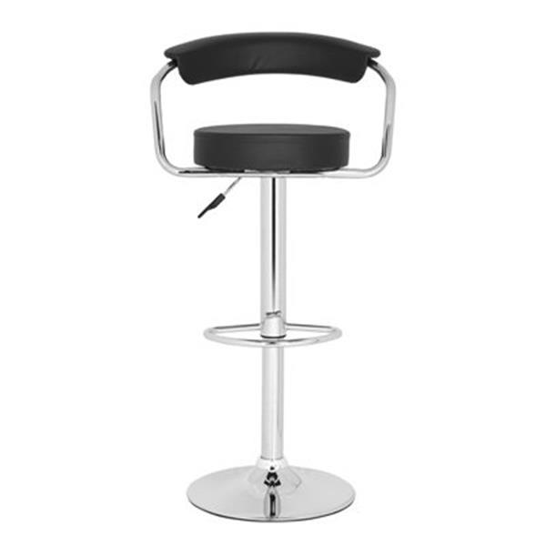 Safavieh Angus 25.20-in Black PVC Bar Stool
