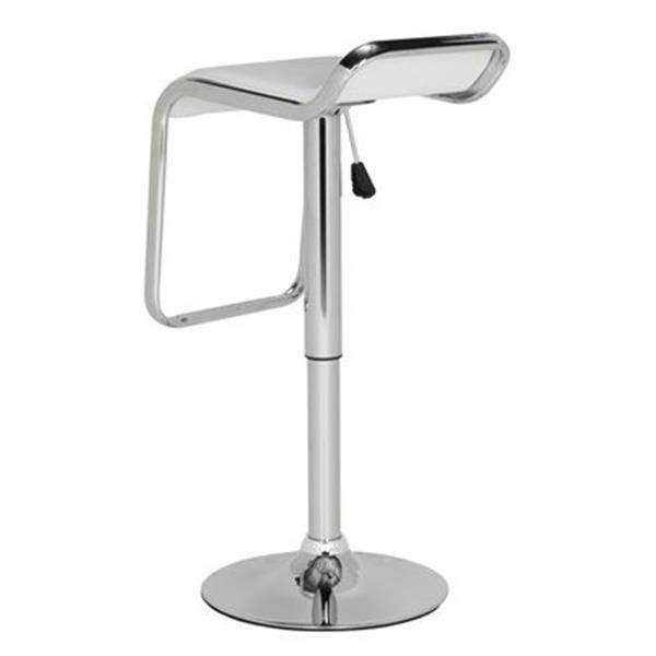 Safavieh Taronda 23.80-in White PVC/ Stainless Steel Bar Stool
