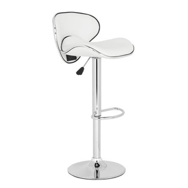 Safavieh Shambi 20.10-in White PVC Bar Stool