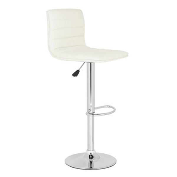 Safavieh Arissa 23.80-in White PVC Bar Stool