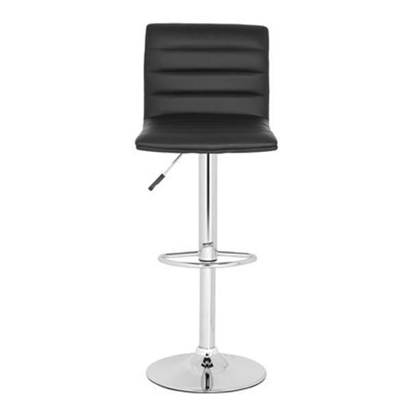 Safavieh Arissa 23.80-in Black PVC Bar Stool