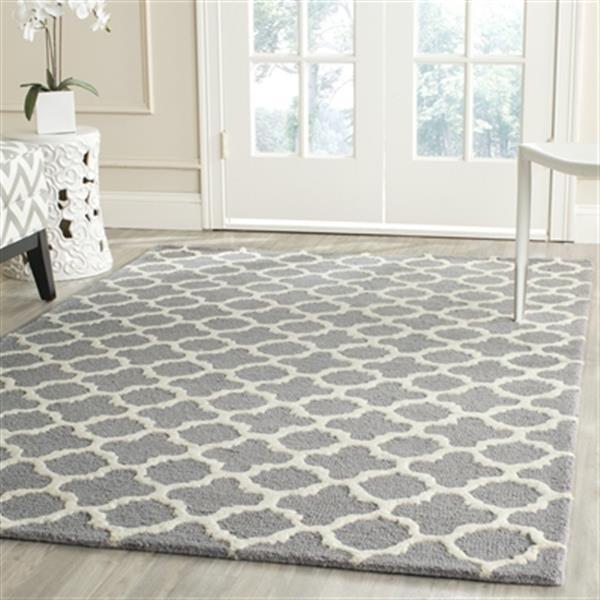 Safavieh Cambridge Silver and Ivory Area Rug,CAM130D-212