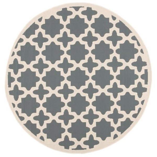 Safavieh Courtyard Anthracite and Beige Area Rug,CY6913-246-
