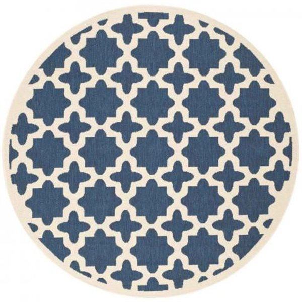 Safavieh Courtyard Navy and Beige Area Rug,CY6913-268-7R