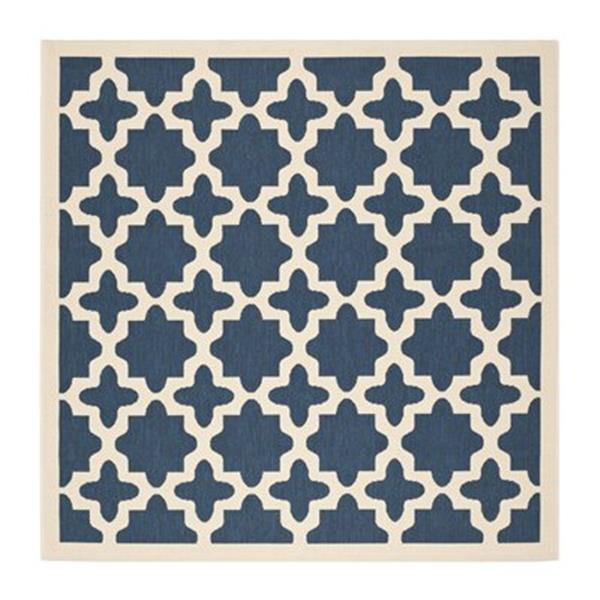 Safavieh Courtyard Navy and Beige Area Rug,CY6913-268-7SQ