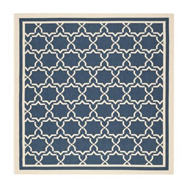 Safavieh Courtyard Navy and Beige Area Rug,CY6916-268-7SQ