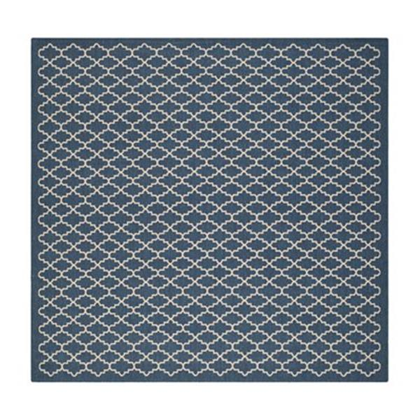 Safavieh Courtyard Navy and Beige Area Rug,CY6919-268-7SQ