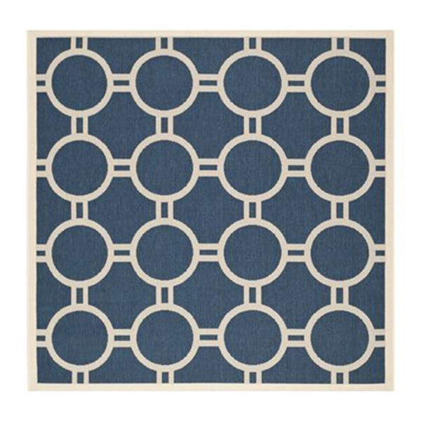 Safavieh Courtyard Navy and Beige Area Rug,CY6924-268-7SQ