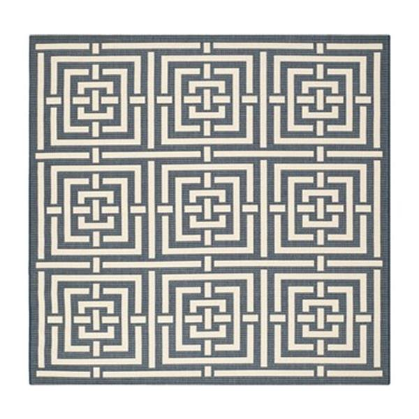 Safavieh CY6937-268 Courtyard Navy and Beige Area Rug,CY6937