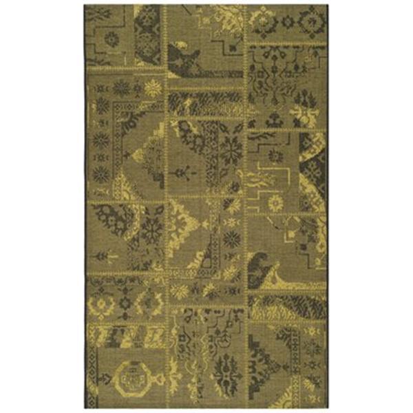 Safavieh PAL121-56C10 Palazzo Area Rug, Black / Green,PAL121