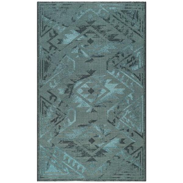 Safavieh PAL122-56C4 Palazzo Area Rug, Black / Turquoise,PAL