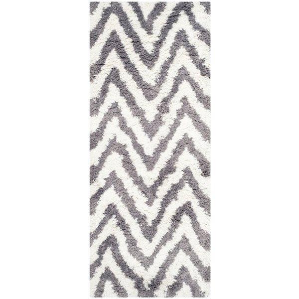 Safavieh Shag Ivory and Grey Area Rug,SG250C-210