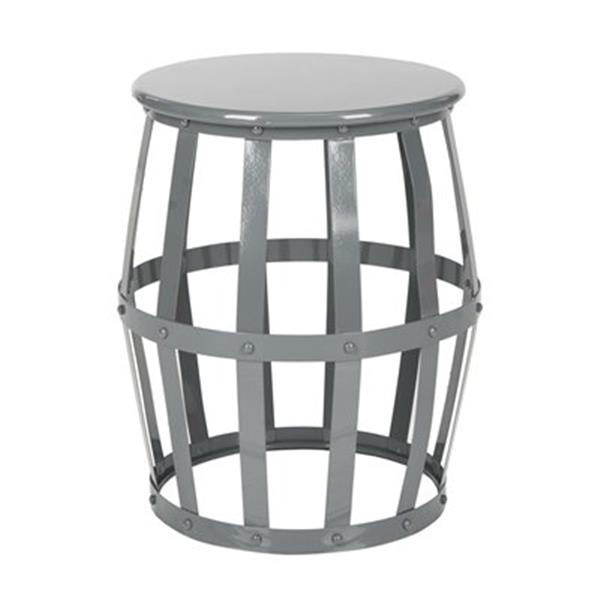 Safavieh Rinaldo 19-in High Gloss Grey Stool Table