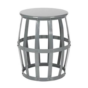 Safavieh Rinaldo 19-in High Gloss Grey Stool Table