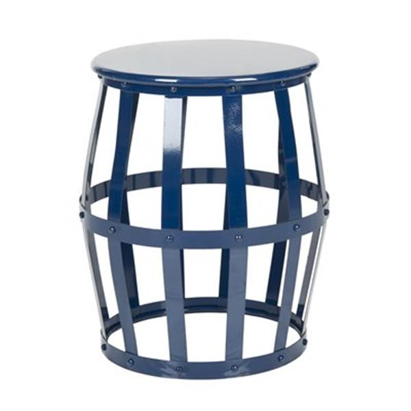 Safavieh Rinaldo 19-in High Gloss Navy Stool Table