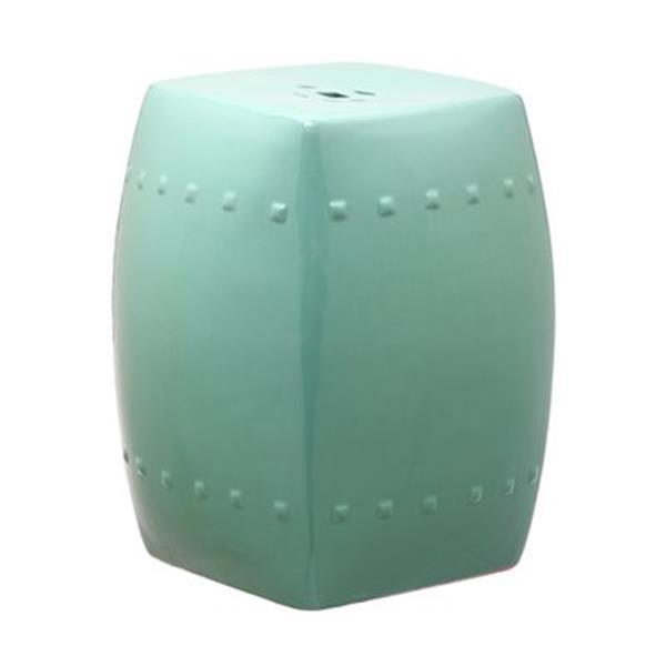 Safavieh Villa 17-in Aqua Ceramic Garden Stool