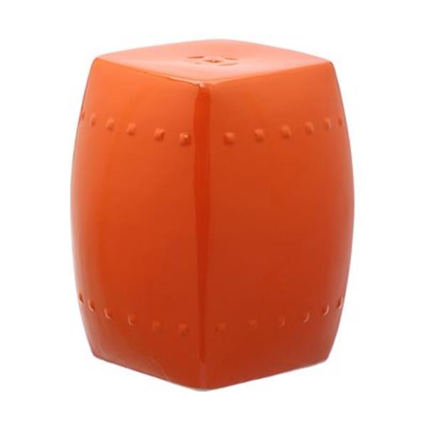 Safavieh Villa 17-in Orange Ceramic Garden Stool