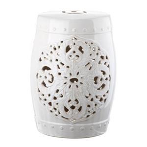 Safavieh Flora 18-in White Ceramic Garden Stool