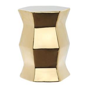 Safavieh Modern Hexagon 18-in Gold Ceramic Garden Stool