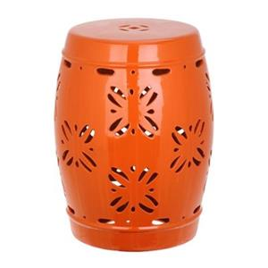 Safavieh Sakura 18-in Orange Ceramic Garden Stool