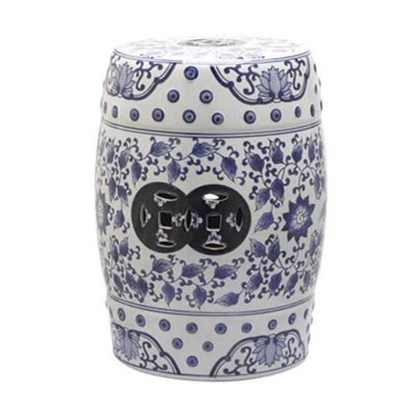 Safavieh Tao 18-in Blue/White Garden Stool
