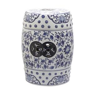 Safavieh Tao 18-in Blue/White Garden Stool