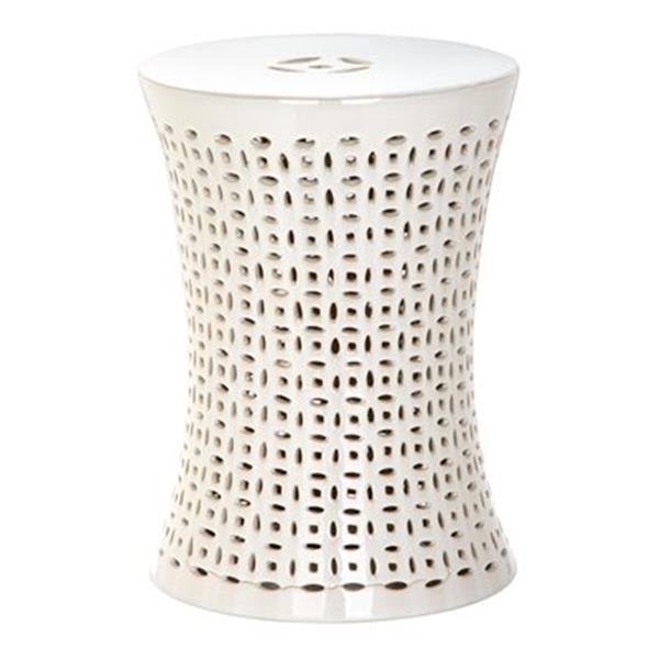 Safavieh Camilla 18-in Cream Ceramic Garden Stool