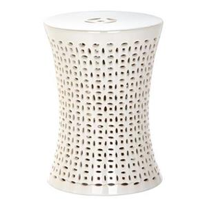 Safavieh Camilla 18-in Cream Ceramic Garden Stool