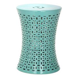 Safavieh Camilla 18-in Aqua Ceramic Garden Stool