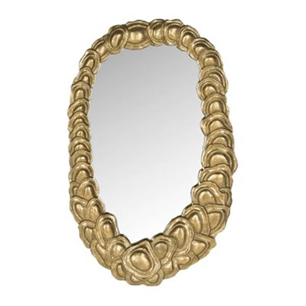 Safavieh Garland 23.80-in x 14.80-in Antique Gold Mirror