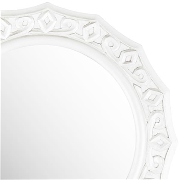 Safavieh Gossamer 25-in x 25-in White Lace Mirror