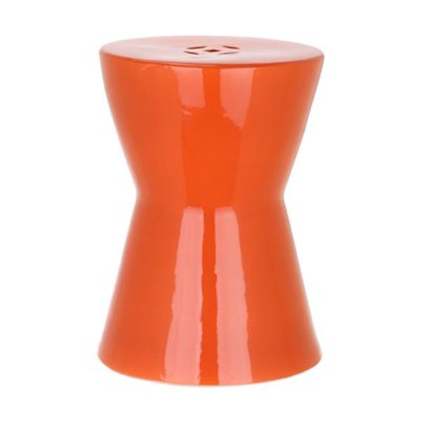 Safavieh Liana 18-in Orange Ceramic Garden Stool