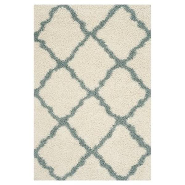 Safavieh SGD257J Dallas Shag Ivory/Light Blue Area Rug,SGD25