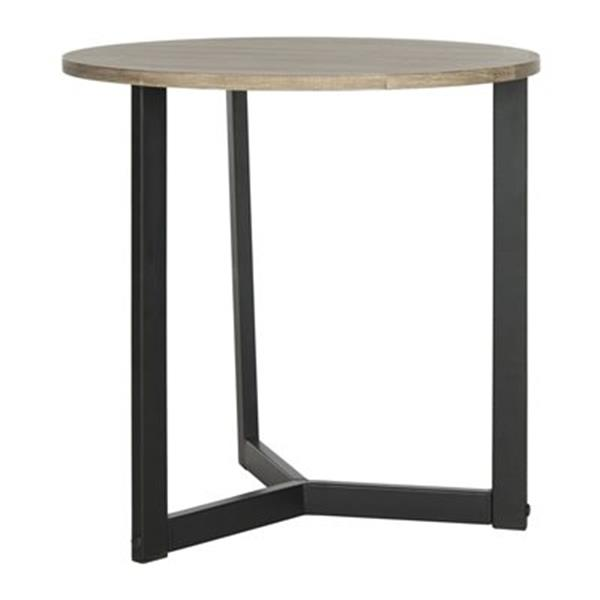 Safavieh Fox 22.8-in Oak/Black Ballard Side Table