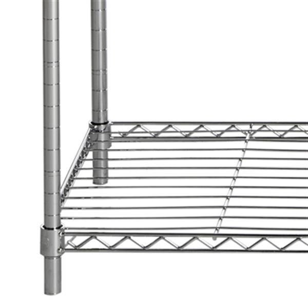 Safavieh HAC1008A Betsy Chrome Wire Adjustable Garment Rack,