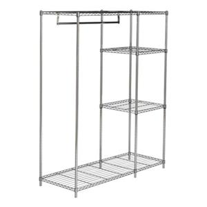 Safavieh HAC1008A Betsy Chrome Wire Adjustable Garment Rack,