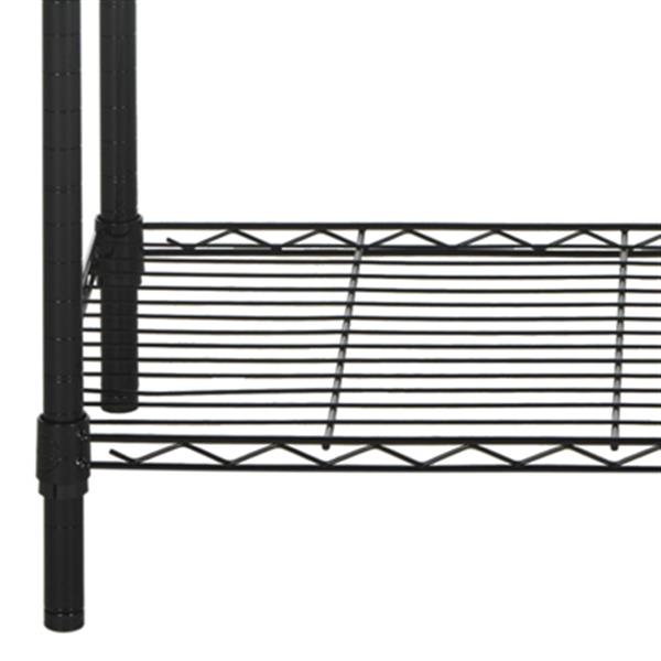 Safavieh Home Accents 71-in Black Alpha 5 Tier Wire Rack