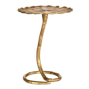 Safavieh Justina 21-in Gold Side Table