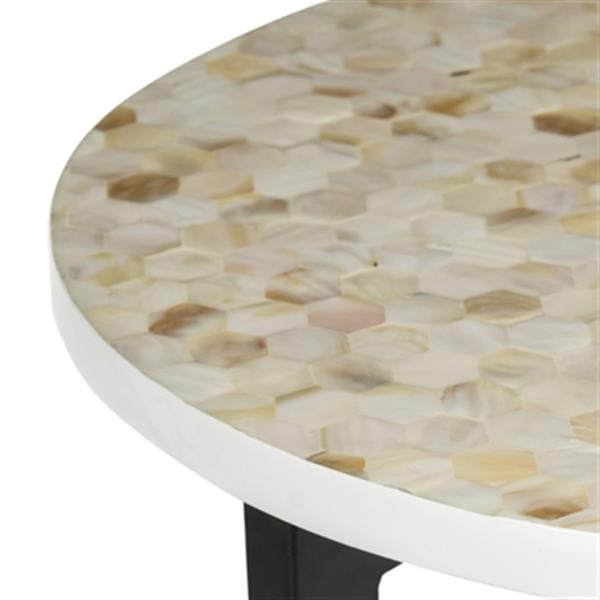 Safavieh Zaira 26-in Cream/Black End Table