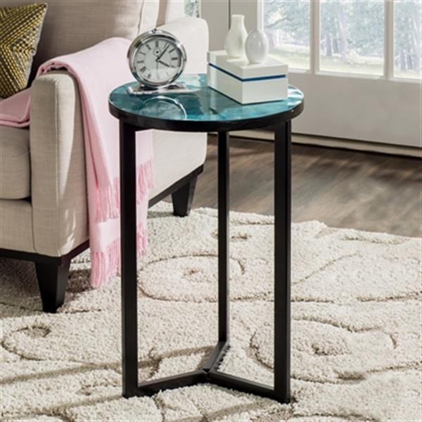 Safavieh Zaira 26-in Turquoise/Black End Table