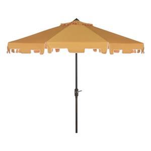 Safavieh Zimmerman 9-ft Yellow Drape Crank & Tilt Patio Umbrella