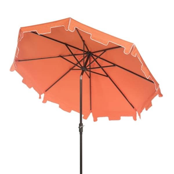 Safavieh Zimmerman 9-ft Orange Drape Crank & Tilt Patio Umbrella
