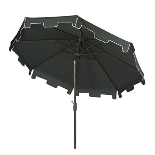 Safavieh Zimmerman 9-ft Dark Green Drape Crank & Tilt Patio Umbrella