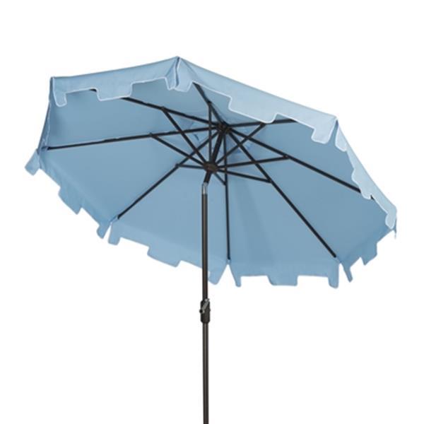 Safavieh Zimmerman 9-ft French Blue Drape Crank & Tilt Patio Umbrella