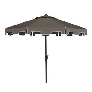 Safavieh Zimmerman 9-ft Grey Drape Crank & Tilt Patio Umbrella