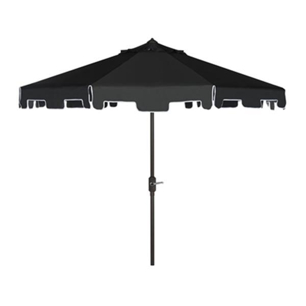 Safavieh Zimmerman 9-ft Black Drape Crank & Tilt Patio Umbrella