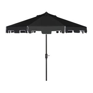 Safavieh Zimmerman 9-ft Black Drape Crank & Tilt Patio Umbrella